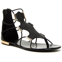 Aldo Trinique Sandal ($40) ❤ liked on Polyvore featuring shoes, sandals, black, aldo shoes, zipper shoes, aldo, aldo sandals and black sandals