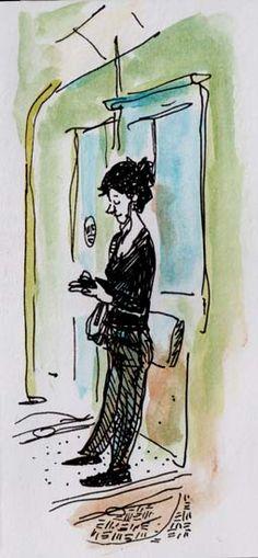 Portrait du mardi - Dans le tram 8, Roma
