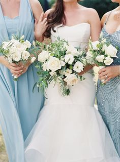 Elegant white bouquets:  http://www.stylemepretty.com/2015/10/12/nautical-summer-wedding-in-maryland/   Photography: Michael and Carina - http://www.michaelandcarina.com/