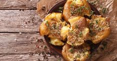 If you're a potato lover, these Crispy Smashed Potatoes are going to rock your world. Vegan Vegetarian, Vegetarian Recipes, Cooking Recipes, Crispy Smashed Potatoes, Baked Potatoes, Christmas Cooking, Potato Recipes, Meal Planning, Food To Make