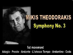 Mikis Theodorakis 20th Century Music, November Rain, Greek Music, Best Songs, Classical Music, My Music, Dance, Youtube, Composers