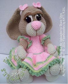Peeps the Little Girl Bunny-  Ravelry: This pattern is available for download for $6.20.