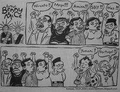 Kartun Benny & MIce: Edisi Pemilu 2004 (10 tahun yang lalu...)