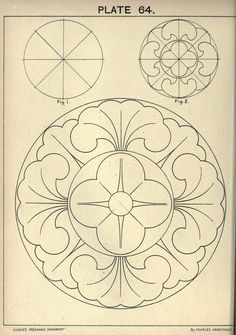 see site for many more - 1895 - Cusack's freehand ornament. A text book with chapters on elements, principles, and methods of freehand drawing, for the general use of teachers and students . by Armstrong, Charles Pattern Art, Pattern Design, Motif Arabesque, Tattoo Painting, Motif Floral, Leather Pattern, Line Design, Islamic Art, Machine Quilting
