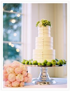 Cake  - Green and Pink Wedding