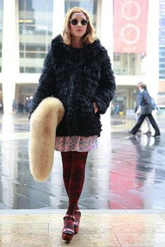 Street Style: Textured Coats / Photos by Anthea Simms