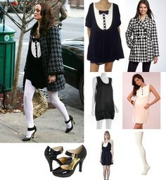 Gossip Girl: Blair Waldorf in Catherine Holstein dress, Forever 21 coat Mode Gossip Girl, Estilo Gossip Girl, Gossip Girl Outfits, Gossip Girl Fashion, Blair Waldorf Outfits, Blair Waldorf Style, Cool Outfits, Fashion Outfits, White Outfits