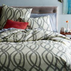 Organic Painted Swirl Duvet - West Elm - King = $109