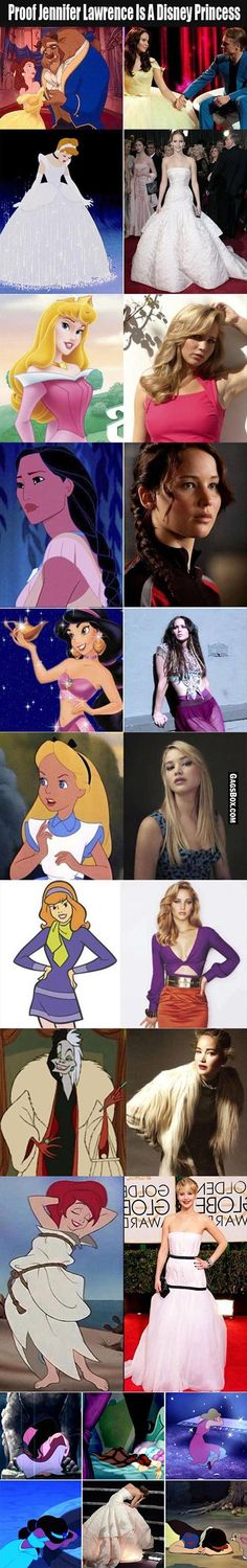 Proof Tha Jennifer Lawrence Is Disney Princess