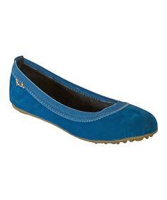 Another great find on #zulily! Turquoise Velvet Malibu Ballet Flat by Malibu Jane #zulilyfinds