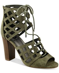 G by GUESS Iniko Caged Lace-Up Sandals - Sandals - Shoes - Macy's