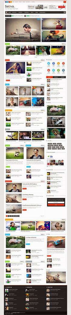Setiva Responsive Modern Blogger Template 2015 #news #magazine