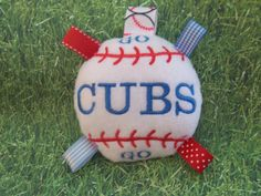 Go CUBS Go       BaseBall Baby Toy    Are by deborahbabarskas, $6.00