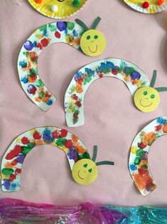 Rainbow caterpillar / snail The Effective Pictures We Offer You About Spring Crafts For Kids boys A quality picture can tell you many things. Kids Crafts, Spring Crafts For Kids, Daycare Crafts, Summer Crafts, Baby Crafts, Toddler Crafts, Art For Kids, Arts And Crafts, Crafts For 2 Year Olds