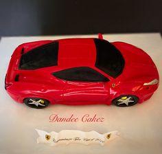 Ferrari Car sculpted Cake, italia458, carved cake