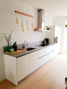 Kitchen Hoods, Ikea Kitchen, Home Decor Kitchen, Kitchen Interior, Home Kitchens, Kitchen Cabinets, Minimal Kitchen Design, Kitchen On A Budget, Kitchen Remodel