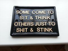 funny signs humorous plaques toilet signhouse by BensSigns on Etsy