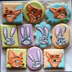 ZOOTOPIA COOKIES Popsicles, Donuts & Paw-psicles from Disney's Zootopia Movie | My Cupcake Addiction