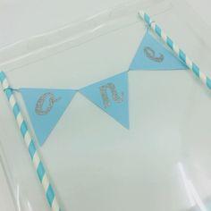 Kuchenwimpelkette ONE Blau Birthday, Kuchen, Blue
