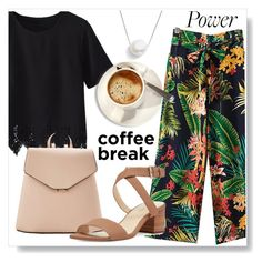 """""""Caffeine Fix"""" by sandralalala ❤ liked on Polyvore featuring WithChic, MANGO, Nine West and Chan Luu"""