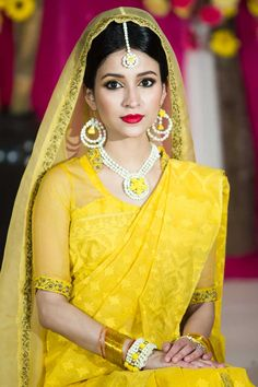 simply amazing#Holud look in Bangladesh Bengali bride