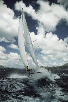 ☼ Life by the sea - cloud ocean water Holly Vrotsos Aboard The Sailboat Photograph
