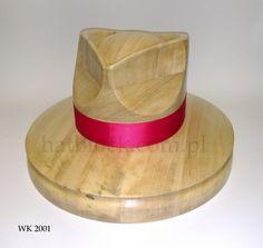 WK 2001 - Wooden hat block, millinery, hut form, form a' chapeau, fascinator, forma kapeluszowa by borsolino on Etsy