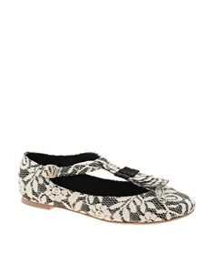 ASOS LOLLY T-Bar Ballet Flats. $21.99. Quirky way to dress up a plain sweater and jeans during the fall.