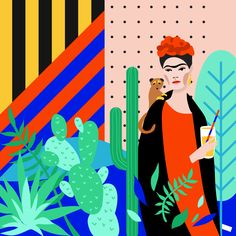 Irina Kruglova is a Chicago-based graphic designer and illustrator renowned for her striking, colourful illustrations that focus on minimalism and precision, inspired by modern culture, nature and simple objects that offer appealing patterns and textures.  http://www.iam-ira.com/