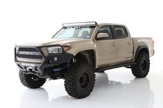 """Bolt on 6"""" of additional tire coverage per side for your 16+ Tacoma with these Off Road Fiberglass Fenders Price is for a pair New Trucks, Cool Trucks, Pickup Trucks, Custom Trucks, Toyota Tacoma Trd, Toyota Tundra, 2016 Tacoma, Toyota 4runner, Tacoma Truck"""