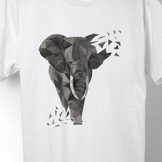 Geschenk Stoßzahn dreieck Tier Elefant Klugheit Safari Dickhäuter groß Weisheit Geschenkidee grau Afrika Elfenbein Rüssel Elephant Low-Poly-Style tiere low poly tiere dreiecke Zoo Polygon wild Kraft