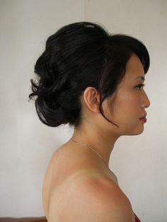 Bridesmaid / Updo for just shoulder length | Flickr - Photo Sharing!