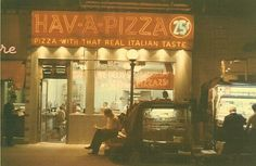 HAV-A-PIZZA on the NE corner of 86th Street and Lexington Avenue - Bets pizza in the city back in the day