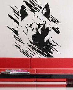 Wolf - Wall Decal Vinyl Decor Art Sticker Removable Mural Modern Animals Nature from UberDecals on Etsy. Graffiti Artwork, Mural Art, Wall Art, Murals, Tribal Shoulder Tattoos, Wolf Pictures, Vinyl Decor, Custom Decals, Wall Decal Sticker