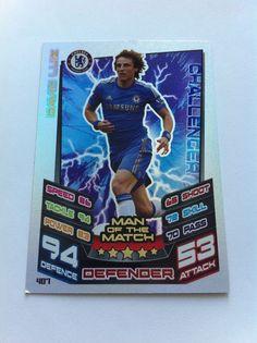 Match Attax 12/13 David Luiz Chelsea Challenger Shiny Trading Card
