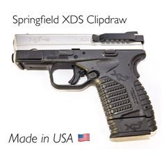 Holster-less Concealed Carry for your Springfield XDS 9MM or .45 Caliber Mounts on Right or Left Side
