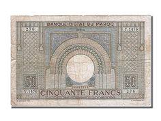 Billets Maroc (Banknotes Morocco), Maroc, 50 Francs, type 1936