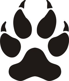 panther paw print silhouette clip art download free versions of the rh pinterest com panther paw clip art animated Panther Paw Print