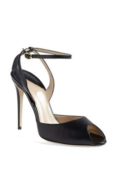 Simple and Stunning! Paul Andrew Black Leather Sandal