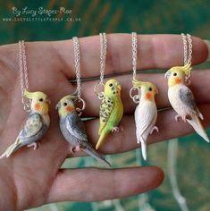 polymer clay birdy charms #diyjewelry