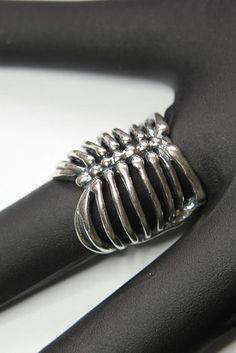 Silver Ribcage Ring | 19 Stunningly Weird Pieces Of Anatomy Jewelry