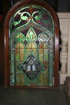 1800's Arched Round Top Stained Glass Window | eBay
