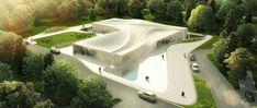 asymptote architecture: beukenhof auditorium and crematorium