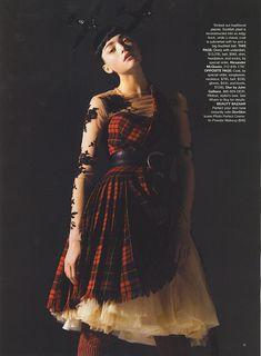 "Alexander McQueen - Gemma Ward - Harper's BAZAAR July 2006 ""The News from Paris"" Photographer: Mario Sorrenti"