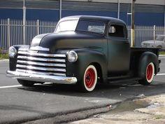 chevy trucks, rat rods, car rides, dream, 1950 chevi, chevi truck, chevi rat, matte black, hot rod