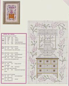 Cozy kitchen cross stitch pattern