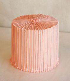 tall stripe cake