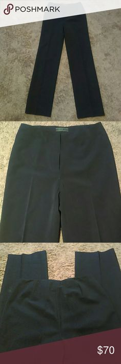 """NWOT PRADA PANTS-SIZE 40-HIGH WAISTED -Prada High Waisted Pants -Size 40 -Brand New, Never worn -90% Polyester, 10% Spandex -There's an extremely hidden 6"""" zipper in front. And it snaps and buttons on the inside of the waistband -Waist measures 13 1/2"""", straight across -Hips measure 17"""", straight across -Inseam measures 31"""" in length -Leg opening measures 8 1/2"""", straight across -Navy Color Prada Pants Straight Leg"""