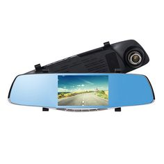 5.0 Full HD 1080P Auto Car DVR Rearview Mirrors Camera Video Recorder Dash Cam Card Up to 32Gb HDMI  night vision Russian