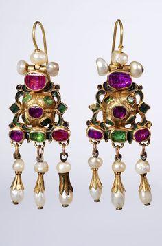 Earrings, Russia, 18th century